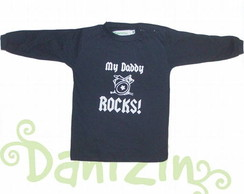 T-Shirt Beb� M.Comprida MY DADDY ROCKS!