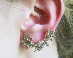 Ear Cuff Borboletas Strass