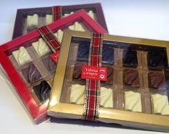 Caixas com 12 bombons - chocolate belga