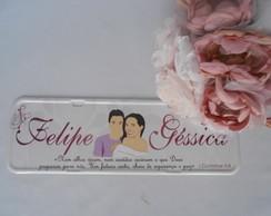 Placa Felipe e G�ssica