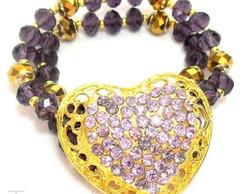 Bracelete Cora��o Lil�s