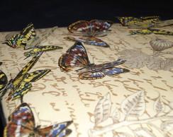 Caixa revestida de tecido