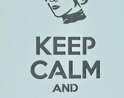 Quadro Keep Calm PRINCESS LEIA