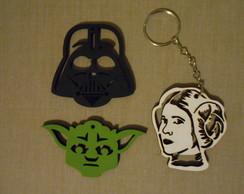 Conjunto de Chaveiros Star Wars