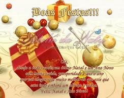 Cart�o De Natal E Ano Novo