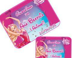 R�tulo Para Marmitinha Barbie Sapatilhas