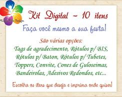Kit Digital Personalizado - 10 Itens