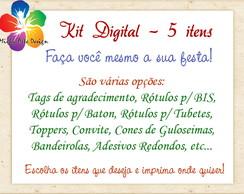Kit Digital Personalizado - 5 Itens