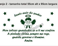 Adesivo Anjo + Ora��o Santo Anjo 02