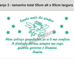 Adesivo Anjo + Ora��o Santo Anjo 03