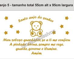 Adesivo Anjo + Ora��o Santo Anjo 05