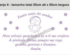 Adesivo Anjo + Ora��o Santo Anjo 06