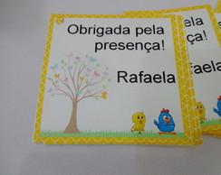 Tag agradecimento - Galinha Pintadinha