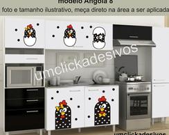 Adesivo Cozinha Galinha Angola 8