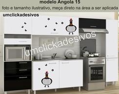 Adesivo Cozinha Galinha Angola 15