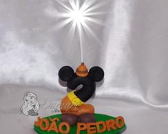 Vela Topo De Bolo Mickey Safari Nome