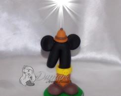Vela Topo De Bolo Mickey Safari
