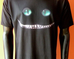 Camiseta Sorriso do Gato da Alice
