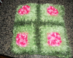 capa de almofada flor cam�lia