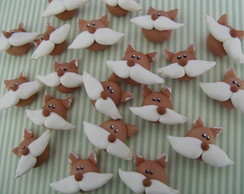 Aplique raposa biscuit