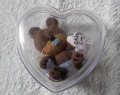 caixinha de cora��o com ursinho