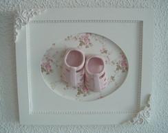(MA 0158) Quadro maternidade sapatinho