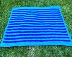 Colcha em crochet Azul da Cor do Mar