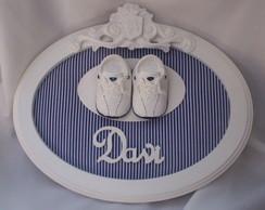 Enfeite de porta de maternidade - Oval