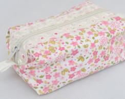 Lembran�a - Mini N�cessaire floral rosa