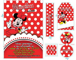 Kit Minnie Vermelha (mn01.1)