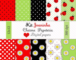 Kit de pap�is Joaninhas