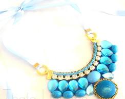 Maxi Colar Azul Aqua