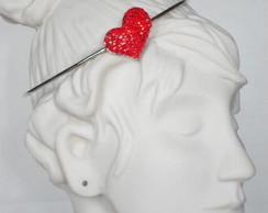 Bracelete Simples Cora��o Vermelho