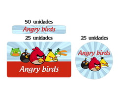 Kit Etiqueta prova a �gua Angry Birds