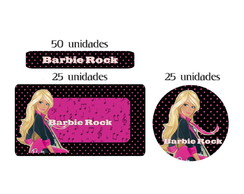 Kit Etiqueta prova a �gua Barbie Rock