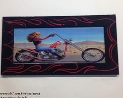 Quadro Moto pinstripe