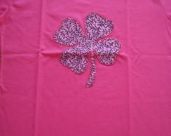 Blusa feminina trevo pink
