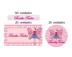Kit Etiqueta prova a �gua Barbie Fada