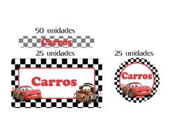 Kit Etiqueta prova a �gua �gua Carros