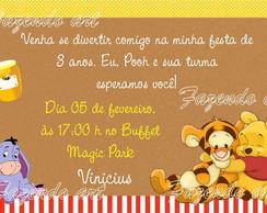 Arte Digital Convite Ursinho Pooh