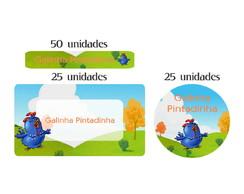 Kit Etiqueta prova a �gua Pintadinha