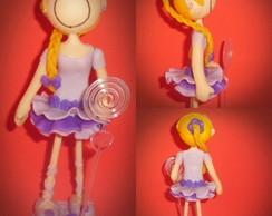 Boneca magrela de biscuit
