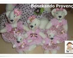 kit mini ursinhas de tecido