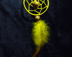 brinco dream catcher amarelo