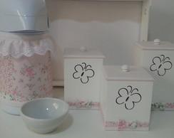 Kit Higiene Borboletas Rosa Po�