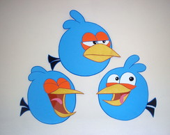 OS AZUIS DOS ANGRY BIRDS C/40 CM -PAINEL