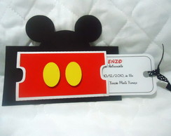 Convite Mickey - bolso