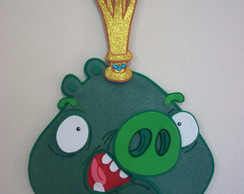 REI PORCO DOS ANGRY BIRDS C/40 CM-PAINEL