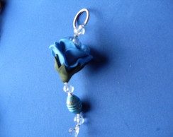 Chaveiro De Rosa De Eva P - Azul Royal 2