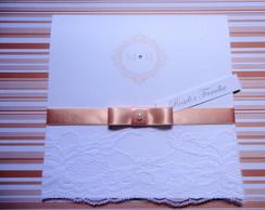 Convite Casamento Renda Salm�o